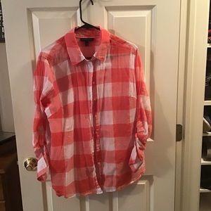 LANE BRYANT button down cotton shirt